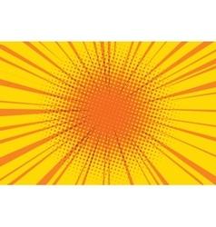 The sun comic book retro pop art background vector