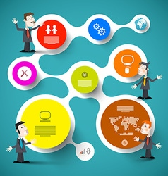 Circle Infographic Layout wit Businessmen or vector image vector image