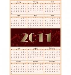 European calendar 2011 vector image