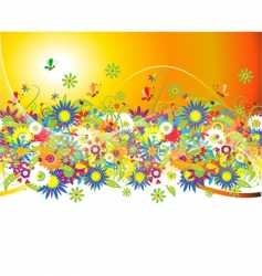 floral bouquet vector image vector image