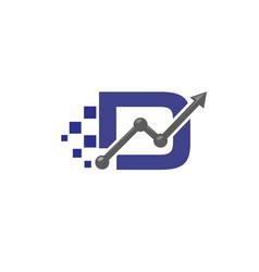 Letter d business logo vector