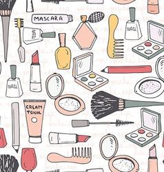 Make Up Seamless Pattern vector image