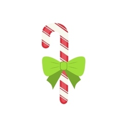 Traditional celebratory christmas candy with green vector