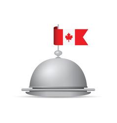 canada flag dinner platter vector image