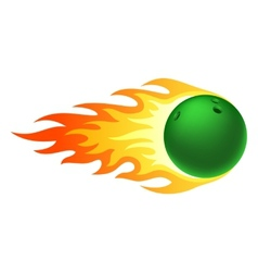 Flaming bowling ball vector