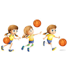 Girl playing different sports vector