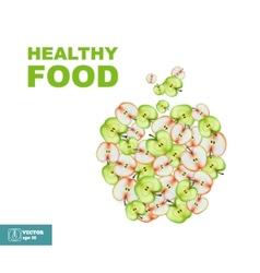 Healthy Food Slice of Apple vector image vector image