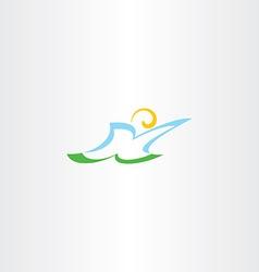 stylized man letter k logo k icon vector image vector image