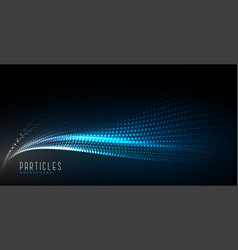 abstract digital technology particle wave vector image