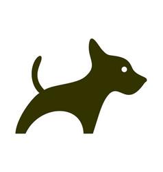 abstract dog logo icon concept vector image