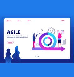 agile concept agile management landing vector image
