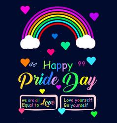 Amazing happy pride day poster for social media vector