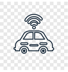 autonomous car concept linear icon isolated on vector image