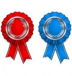 award arms and ribbons vector image