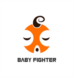 baby fighter logo vector image