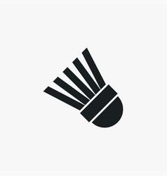 badminton shuttlecock icon simple sportsman vector image