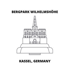 bergpark wilhelmshohe kassel germany line icon vector image