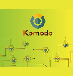 Blockchain komodo symbol digital payment vector