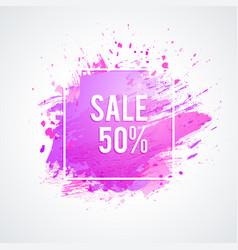 brush-pink-frame vector image