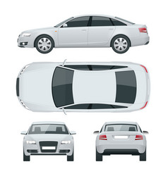 business sedan vehicle car template vector image