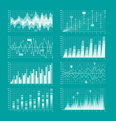 business statistics charts and graphs infographic vector image