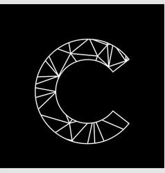 c geometric triangle blockchain font vector image