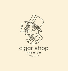 cigar man logo vector image