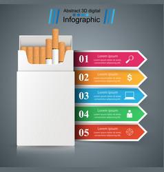 Cigarette vaper smoke - business infographic vector