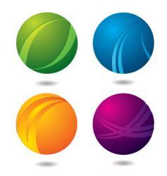 citrus buttons vector image