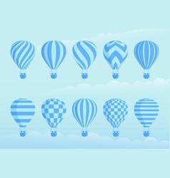 collection duotone hot air balloons vector image
