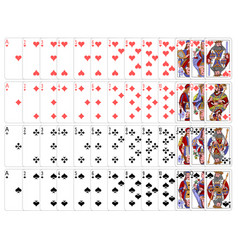Complete playing card set vector