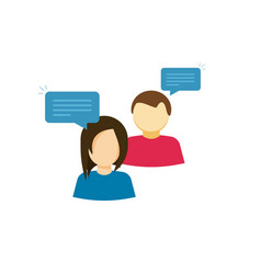 couple talking icon two person talk vector image