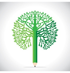 Creative tree design with hand vector