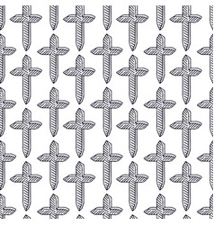 crosses pattern background minimalistic seamless vector image