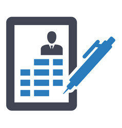 cv resume job curriculum bio-data icon vector image