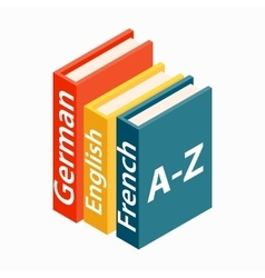Dictionaries boor icon isometric 3d style vector image