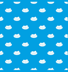 Eggs in the nest pattern seamless blue vector