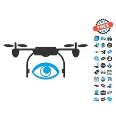 Eye Spy Drone Icon With Free Bonus vector image