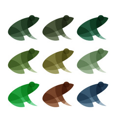 frogs logos effect overlay vector image