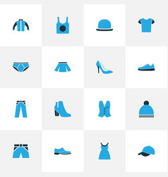 Garment colorful icons set collection of panties vector