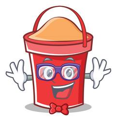 Geek bucket character cartoon style vector