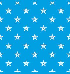 geometric figure star pattern seamless blue vector image