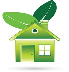 Green house resize vector image
