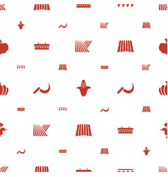 Harvest icons pattern seamless white background vector
