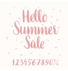 Hello Summer Sale - hand-lettering vector image