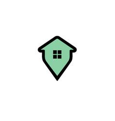 house pin logo vector image