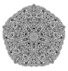 Hypnotic shamanic acid pattern hand drawn design vector