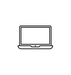 laptop icon in trendy flat style isolated on grey vector image