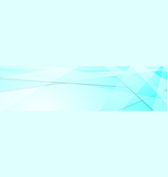 Light cyan tech geometric banner design vector