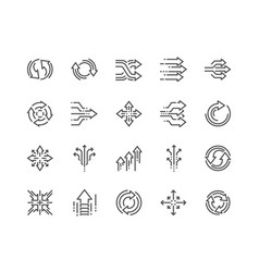 Line abstract transition icons vector